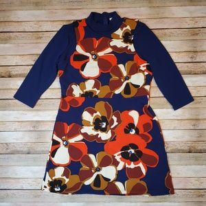 ECI Navy and Floral Dress XL